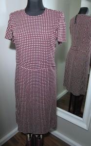 Marni checked crep dress